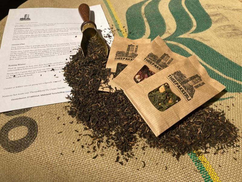 Thee Abonnement: elke maand 3 thee in je brievenbus v.a. €12,- per maand