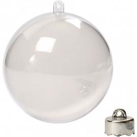 Kerstbal Acryl 8 cm - 5st