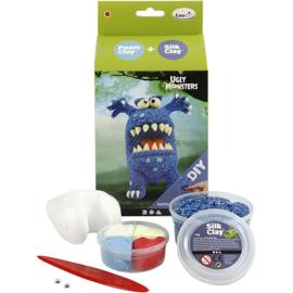 Funny Friends - Blauw Monster Foam Clay Set