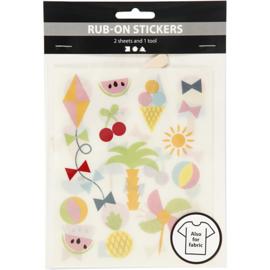 Rub-On Stickers - Vakantie - o.a. voor textiel
