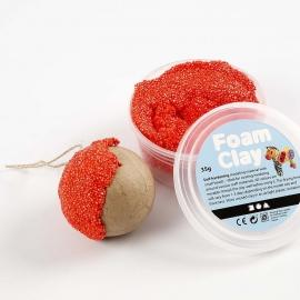 Knutselidee - Papier-mache Kerstversiering met Foam Clay