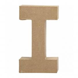 Papier-mache Letter I - 20 cm