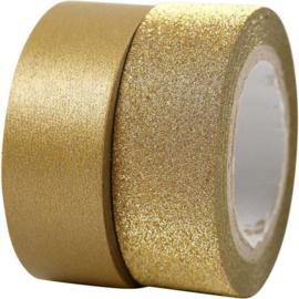 Masking Tape - 2 st - Keuze uit rood, goud en zilver