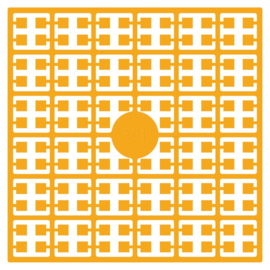 Pixelmatje - kleur geel