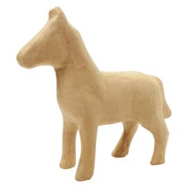 Paard van papier-mache | 19 cm