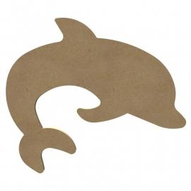 MDF Dolfijn - 15 cm