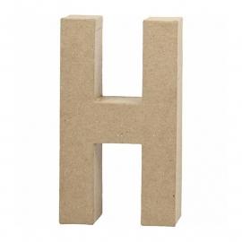 Papier-mache letter H - 20 cm