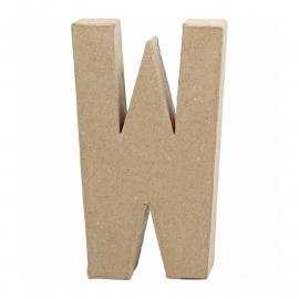 Papier-mache Letter W - 20 cm
