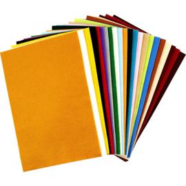 Hobbyvilt - 20 x 30 cm - 24 vellen - 24 kleuren