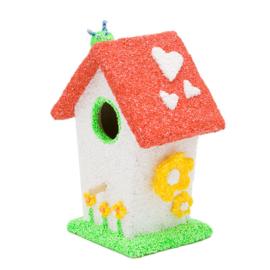 Knutselidee: Vogelhuisjes versieren met Foam Clay