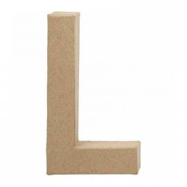 Papier-mache Letter L - 20 cm