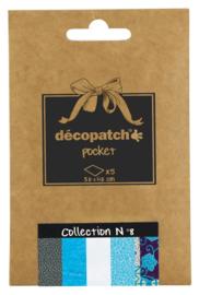 Decopatch Pocket nr 8 | 5 vellen decoupage papier van 30 x 40 cm