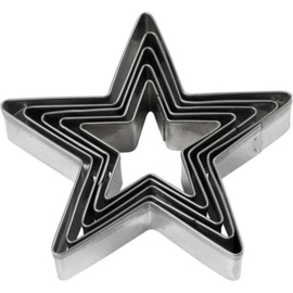 Uitstekers Ster - 5-delig - 8 cm