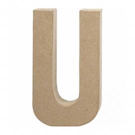Papier-mache Letter U - 20 cm