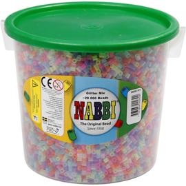 Nabbi Strijkkralen Glitter - 20000 st