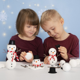 Knutselidee: Sneeuwpoppen van Foam Clay