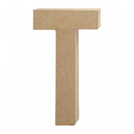 Papier-mache Letter T - 20 cm