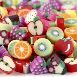 Kleikralen Fruit | 10 mm | gatgrootte 1,5 mm | 200 st