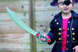 Houten Piraten Zwaard 55 cm | B-Keuze
