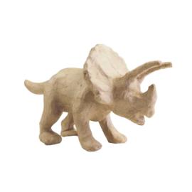 Dinosaurus Triceratops van papier-mache | 29 x 15 cm