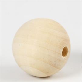 Blankhouten Kralen | 40 mm | gatgrootte 7 mm | 6 st