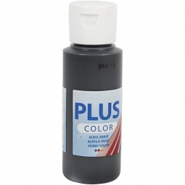 Plus Color Acrylverf Zwart 60 ml