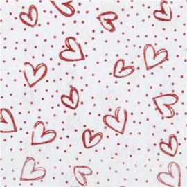Hobbyvilt - Wit met glitter motief - 21 x 30 cm - 1 vel