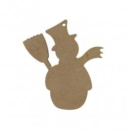 MDF Sneeuwpop met Bezem 10 cm