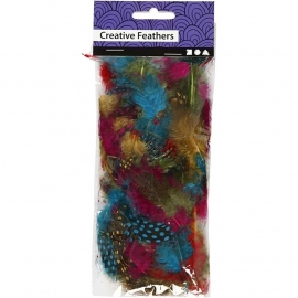 Parelhoen Veren - diverse kleuren
