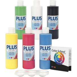 Plus Color Acrylverf Color School 6 x 250 ml