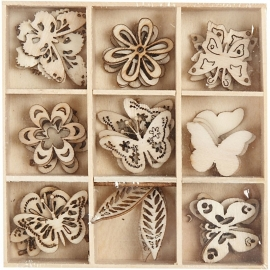 45 Houten decoraties Vlinder