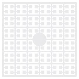 Pixelmatje - kleur wit