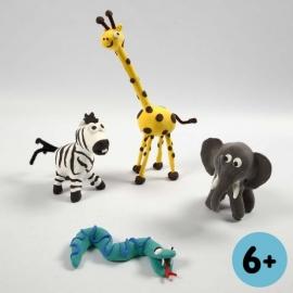 Knutselidee: Dierentuin dieren van Silk Clay