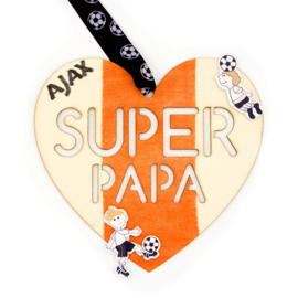 Knutselidee : Houten Hart 'SUPER PAPA'