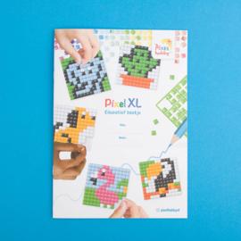Pixelhobby Educatief Patronen Boekje - PixelXL Basisplaat 6 x 6 cm