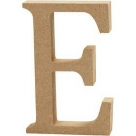 MDF Letter E 13 cm