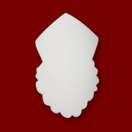 Sinterklaasje van Styropor - 11 cm