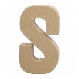 Papier-mache Letter S - 20 cm