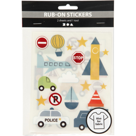 Rub-On Stickers - Transport - o.a. voor textiel