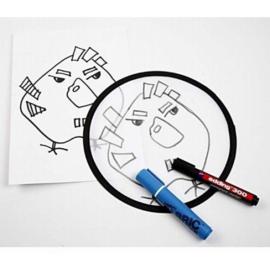 Knutsel Frisbee van wit nylon - 25 cm