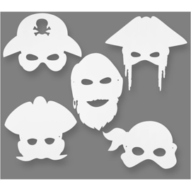 16 Piratenmaskers van Karton
