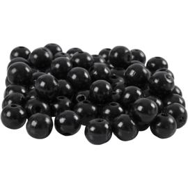 Houten Kralen | 10 mm | zwart | gatgrootte 3 mm | 70 st