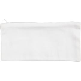 Etui van wit katoen - om in te kleuren - 23 x 11 cm