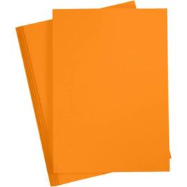 Karton - A4 - Oranje - 180 gr - 20 vellen