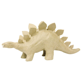 Stegosaurus van papier-mache | 12 x 30 cm