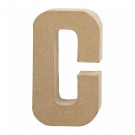 Papier-mache letter C | 20 cm