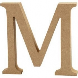 MDF Letter M 13 cm