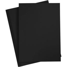 Karton - A4 - Zwart - 180 gr - 20 vellen