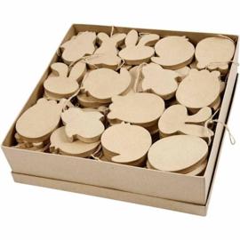 Paasfiguren van papier-mache - 10 cm - 114 st