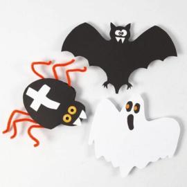 Knutselidee : Halloween Figuren van Karton